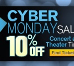 Cyber Monday 10% off Concert and Theatre events!